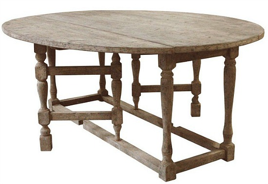 Swedish Gustavian Gray Oval Gate Leg Drop Leaf Dining Table