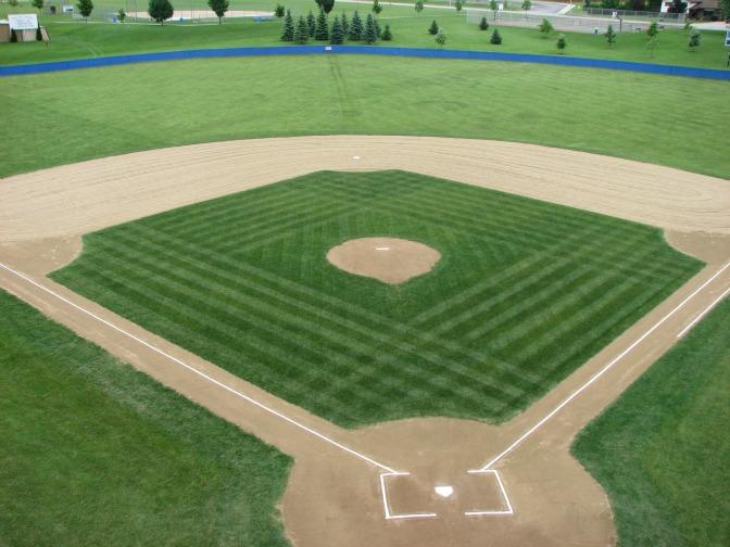 Baseball Diamond Baseball diamond.