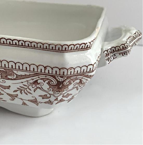 vintage ironstone vegetable bowl brown English