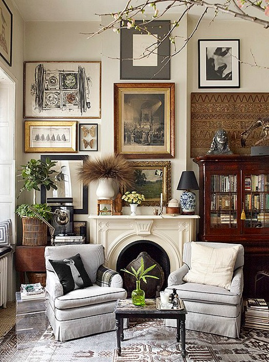 art-above-fireplace
