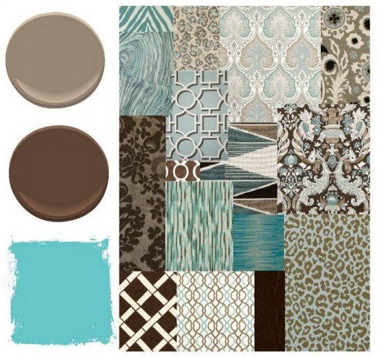 aqua-brown-fabrics-paint-colors