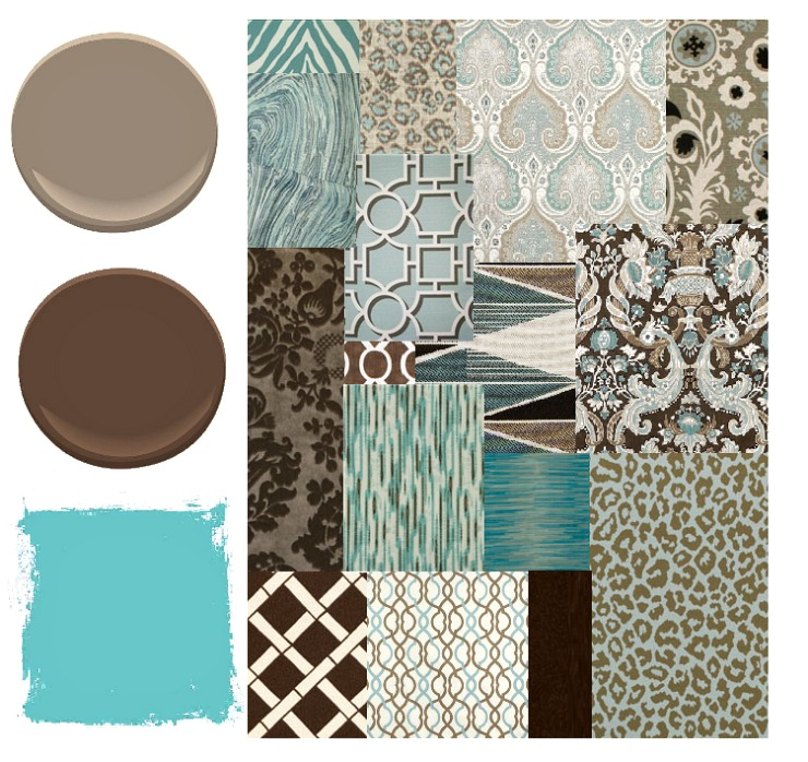 Working with classic color palette combinations as the decorating