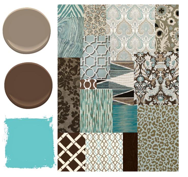 aqua-brown-fabrics-paint-colors