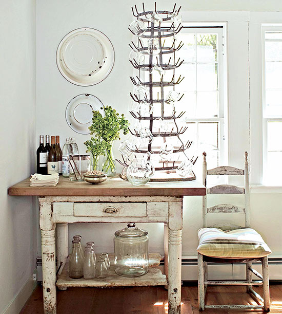 French wine bottle drying rack