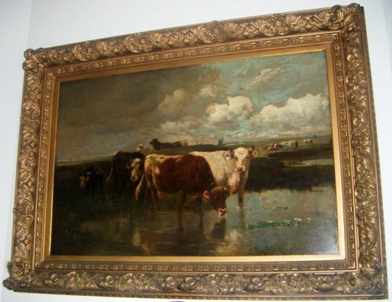 cattle oil painting