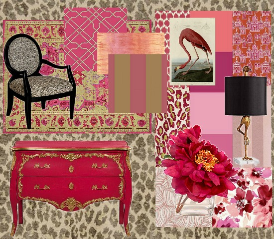 pink colors moodboard