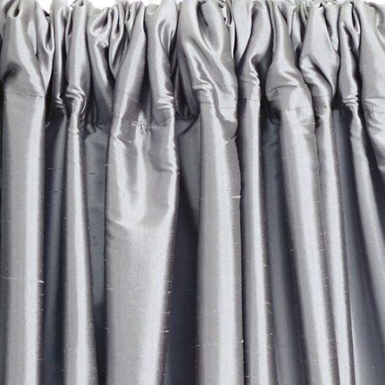 Duponi silk pewter