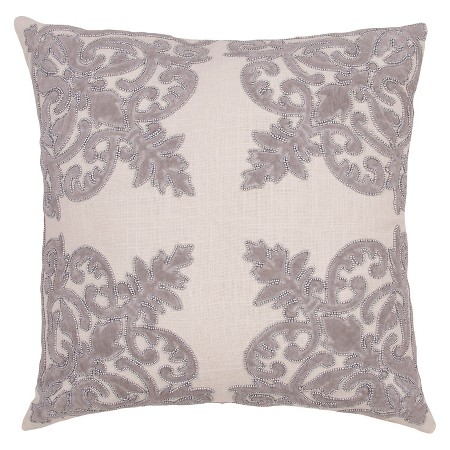 Jennifer Adams gray throw pillow