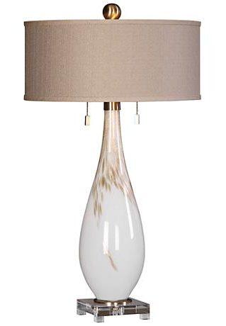 cardoni gloss white table lamp