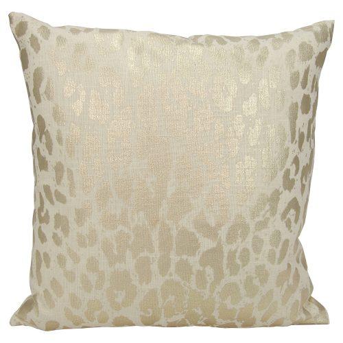 leopard gold throw pillow