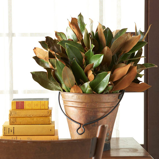 Decorating for fall with natural elements places in the home