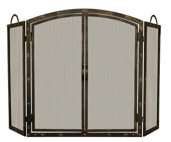 Uniflame Aged Bronze 3 Panel Screen With Doors