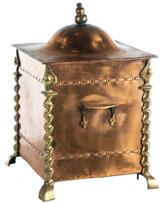Victorian Copper/Brass Coal Scuttle