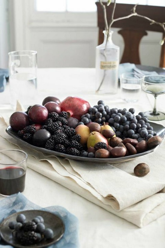 fall fruit centerpiece