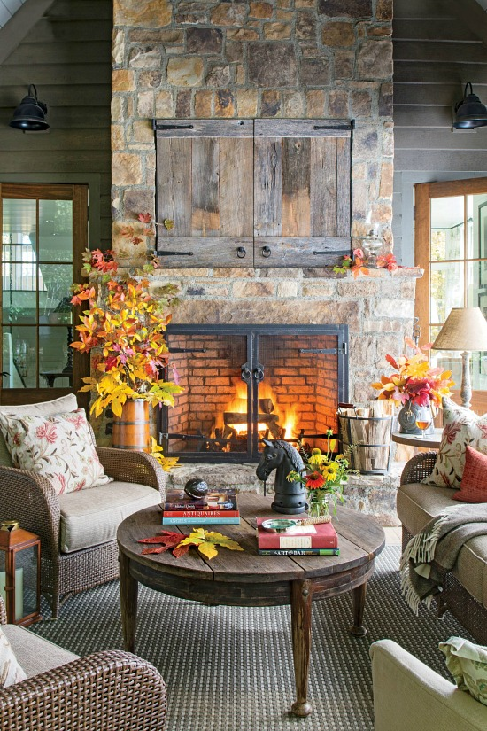 fall-styled-fireplace