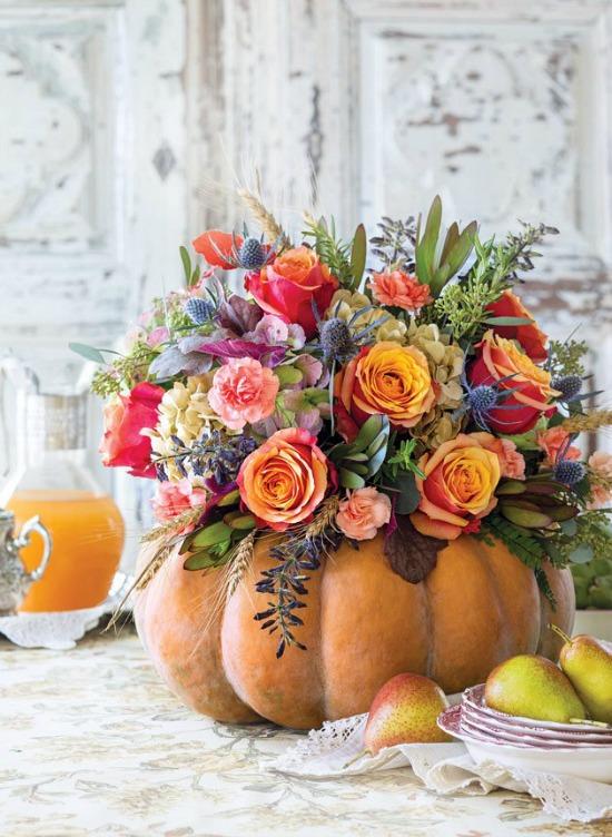 fresh-flowers-in-pumpkin