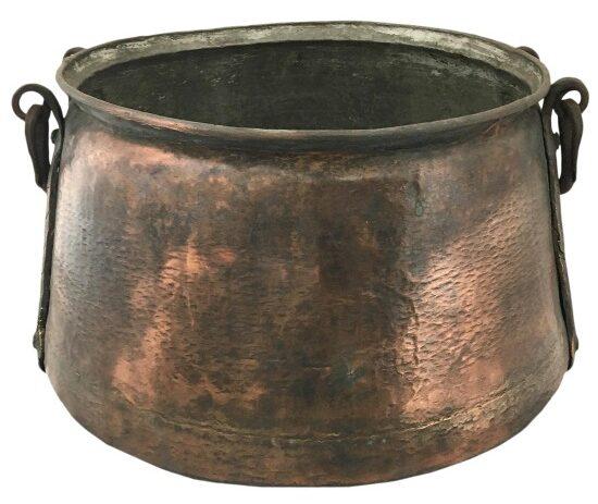 hand-hammered-antique-copper-cauldron