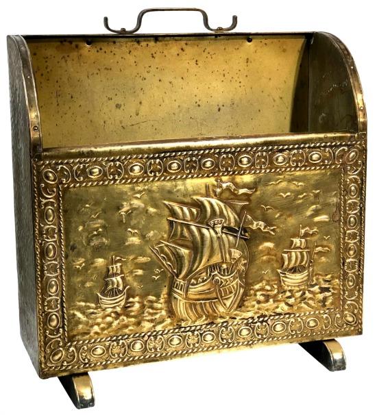 Nautical Brass Fireplace Log Holder