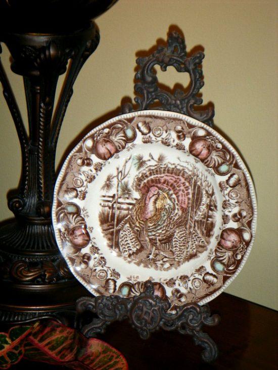 Spode turkey plate