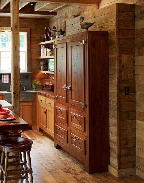 wooden refrigerator doors