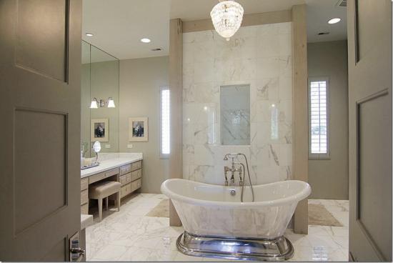 silver bathtub