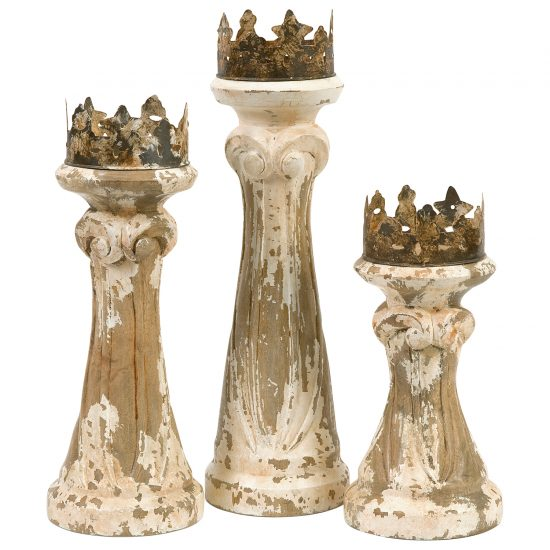 crown candle holders