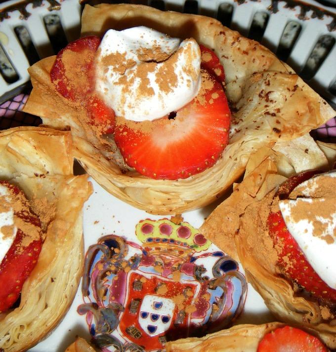 Chocolate-Strawberry-Honey Nests