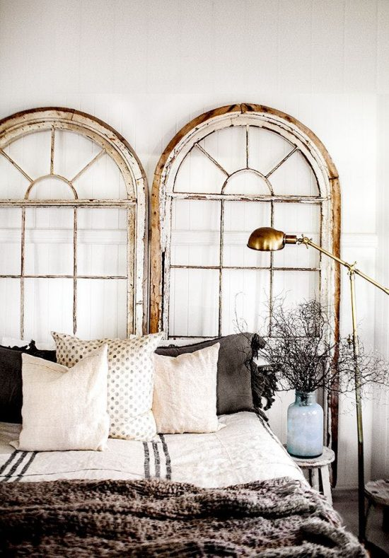arched windows headboard