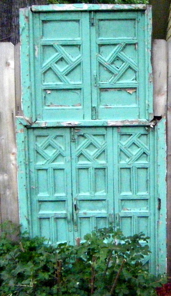 repurposed doors gate
