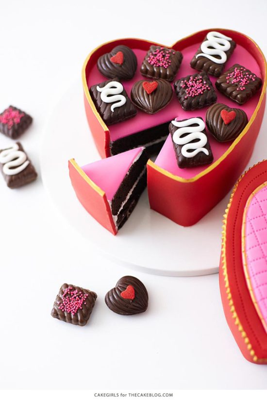 Valentine's Chocolate Candy Box Cake