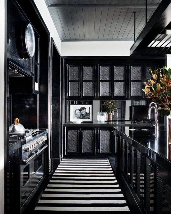 John Jacob Interiors black white kitchen