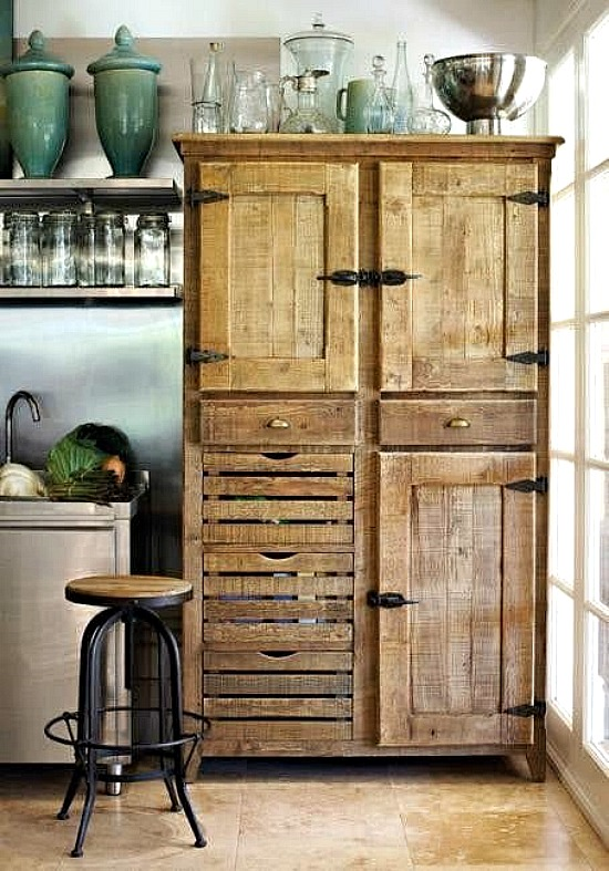 wooden-cabinet-refrigerator