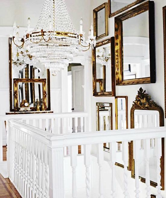 gold-mirrors-on-white-walls