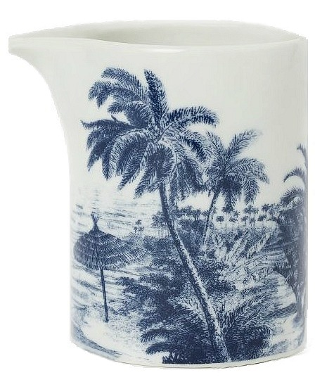 blue plates H&M pitcher