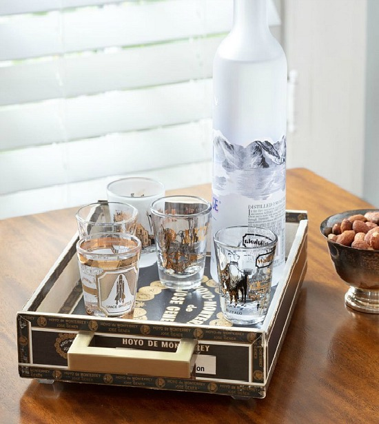 cigar box tray