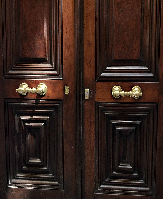 dark wood front doors