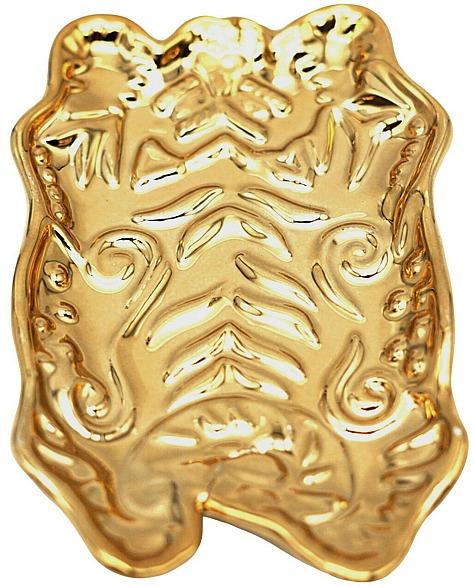 gold tiger trinket tray