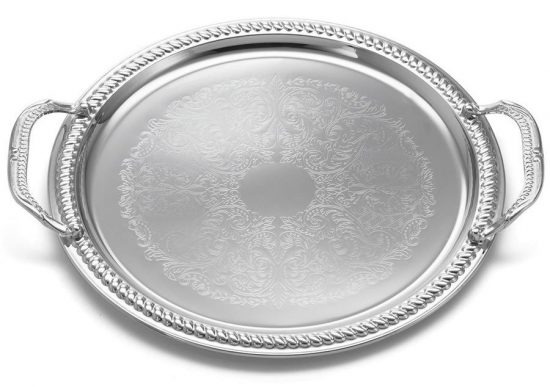 tablecraft-ct13h-13-chrome-plated-serving-tray-with-handles