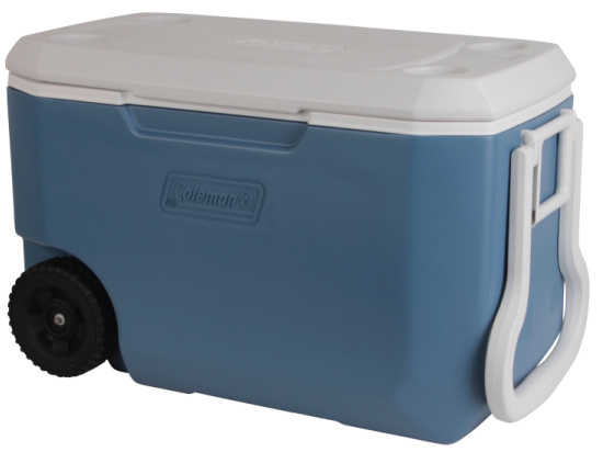 Coleman 62 Quart Xtreme 5 Day Heavy Duty Cooler with Wheels, Blue