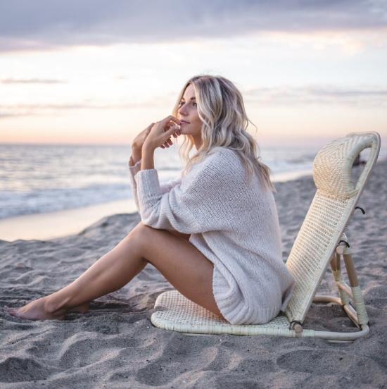 Folding Rattan Beach Chair