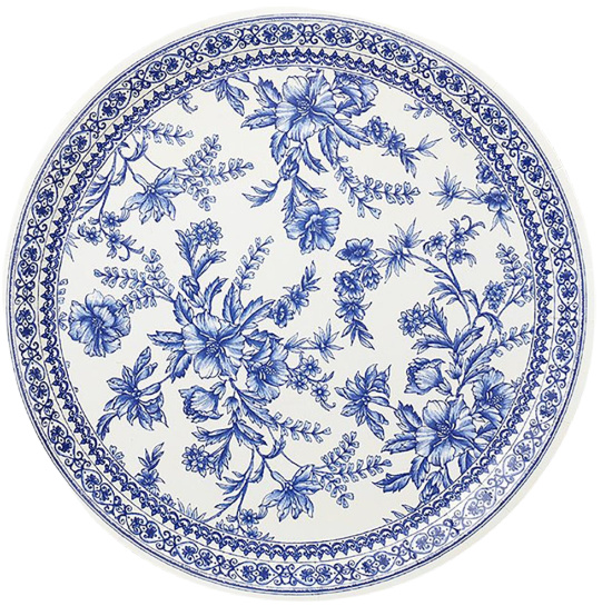 French-toile-flowers-paper-plates