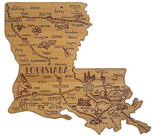 Louisiana-shaped-wooden-cutting-board