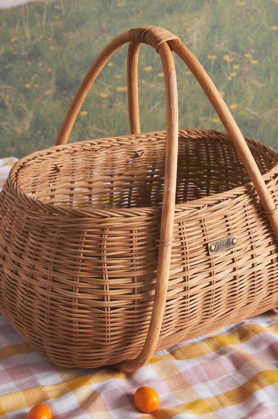 Olli Ella Rattan Picnic Basket