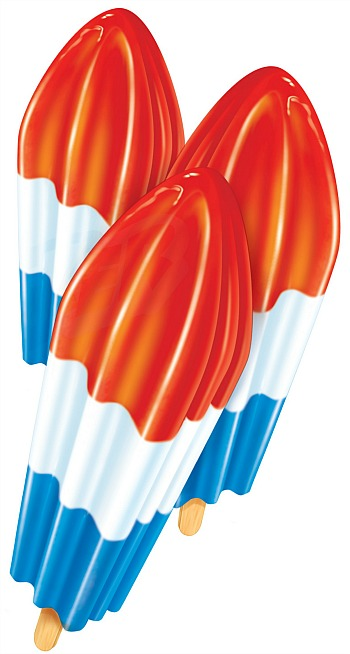 Popsicle ice pops firecracker