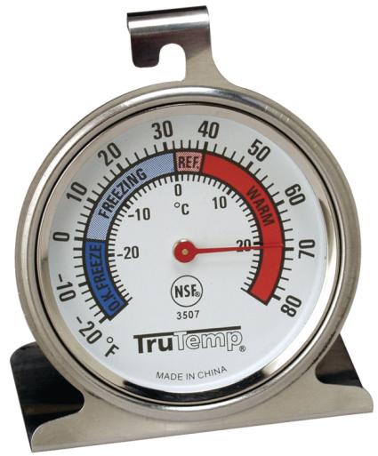 TRUTEMP Fridge Freezer Thermometer