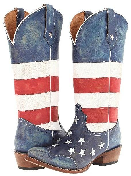 Women's American Flag Snip Toe Boots
