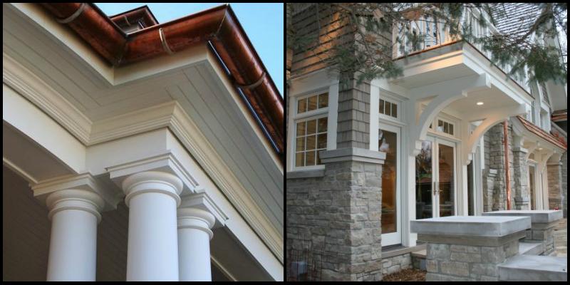 exterior copper gutters