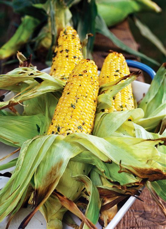 Grilled Corn on the Cob with Herbs