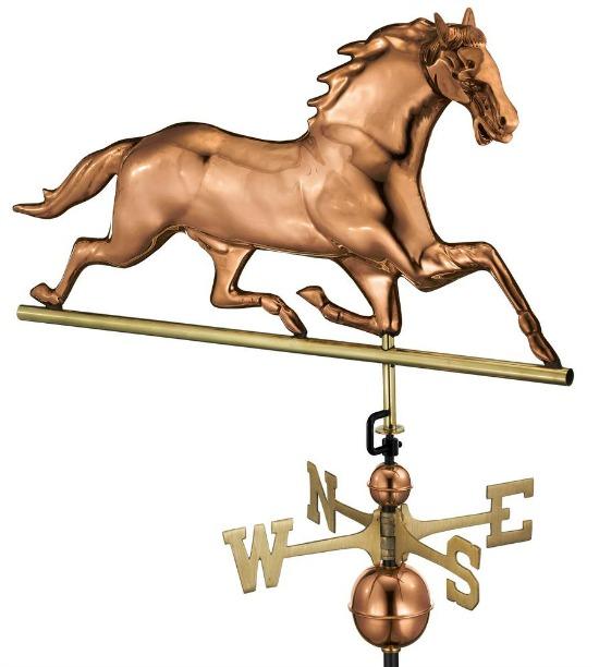 Pure Copper Horse Weathervane