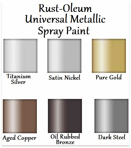 Create curb appeal places in the home Metallic spray paint colors